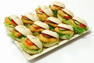 12er Mini Schnitzel Brötchen Platte