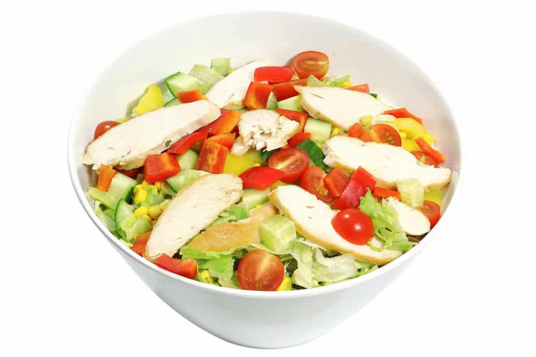 2,5 l Gartensalat mit Putenbrust