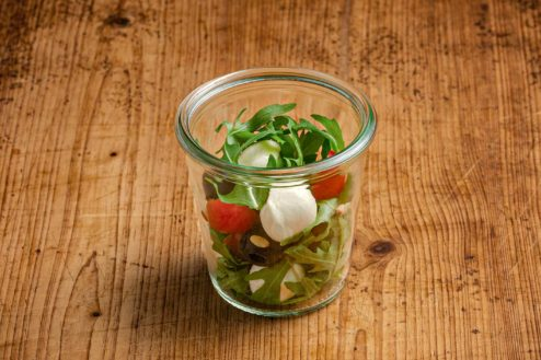 Caprese Salat im Weckglas