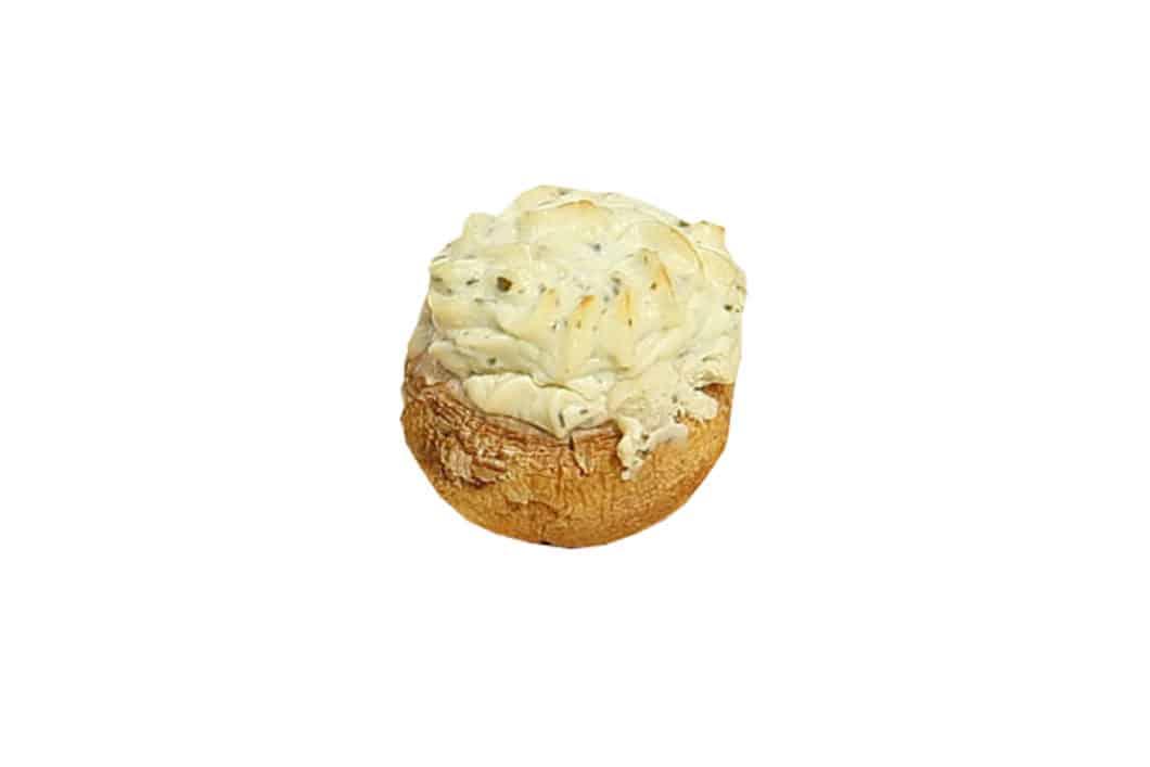Champignon mit Frischkäse gefüllt