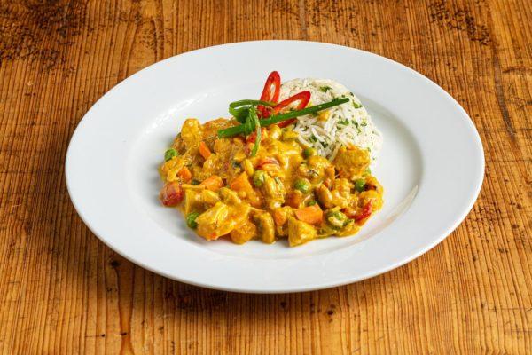 Chicken Curry mit Basmati