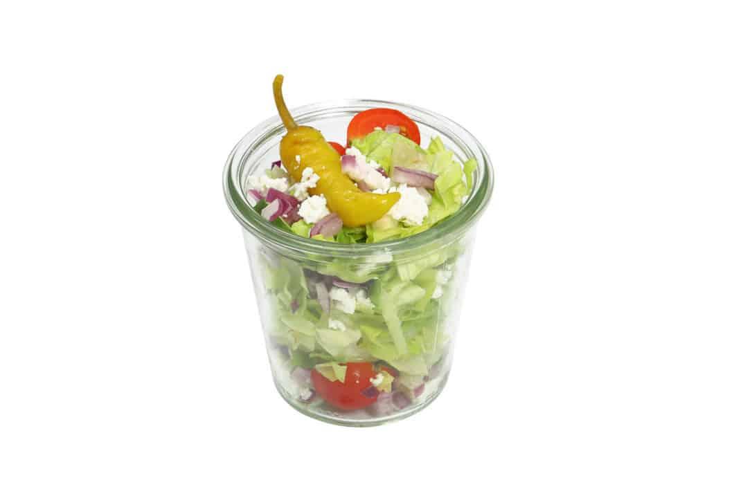Griechischer Salat im Weckglas