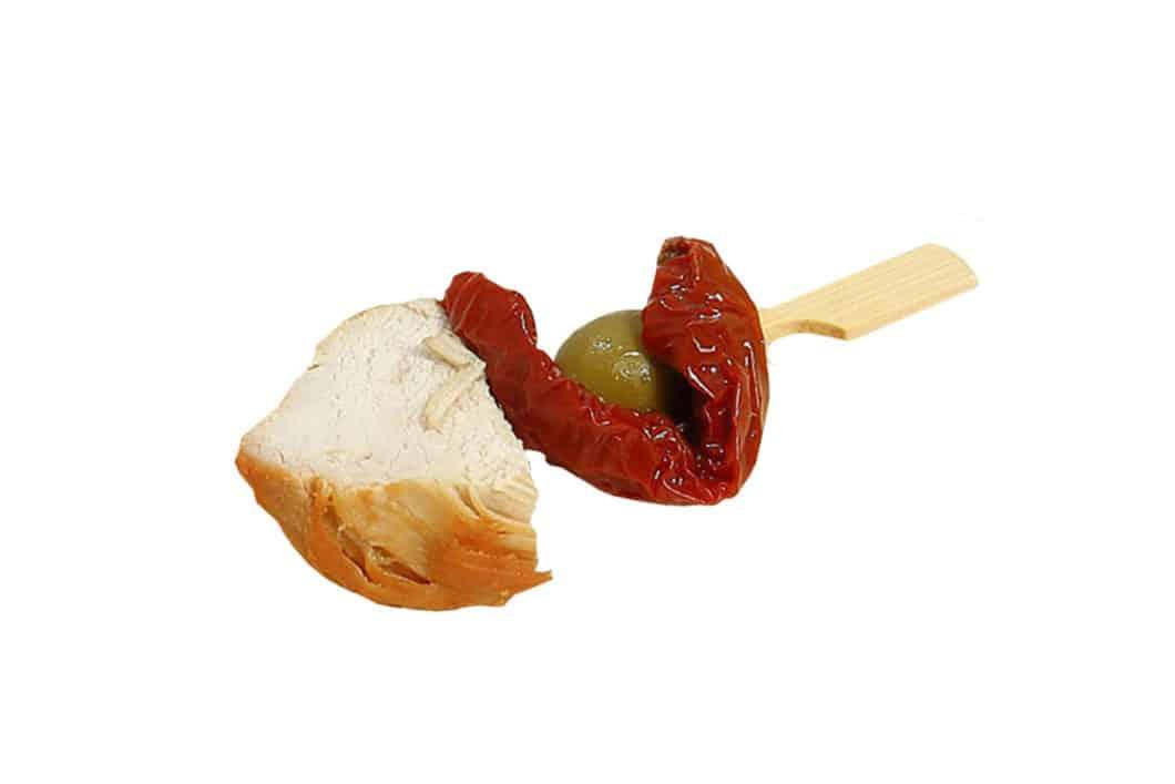 Hähnchenbrust-Oliven Spießchen