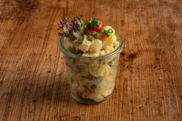 Kartoffelsalat ohne Mayo im Weckglas
