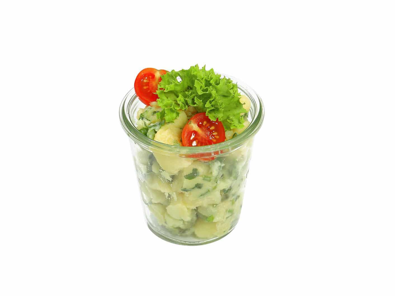 Kartoffelsalat ohne Mayonnaise im Weckglas