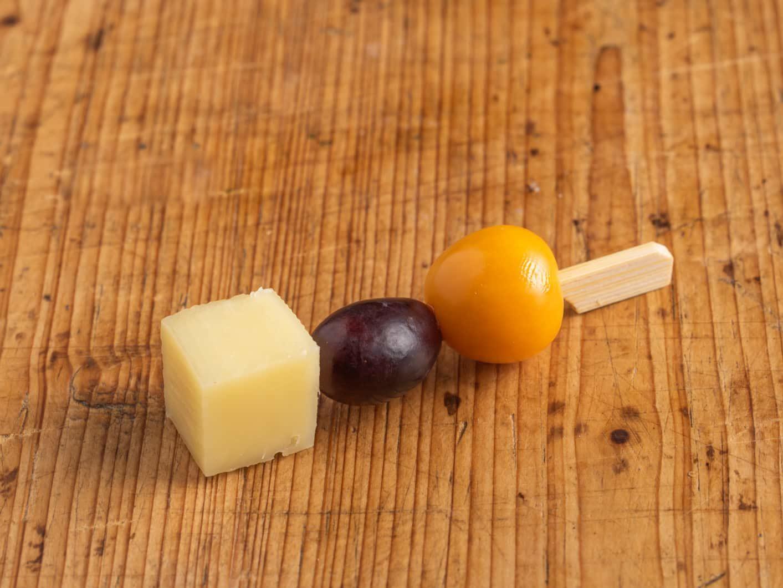 Obst-Käse Spießchen