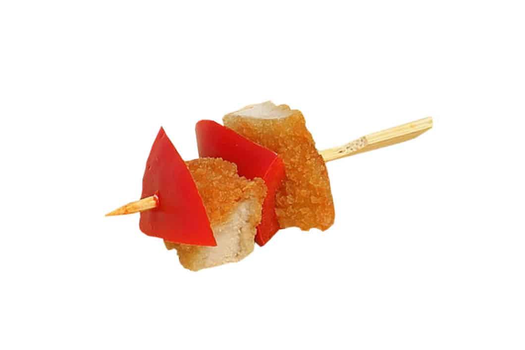 Schnitzel-Paprika Spießchen