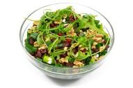 3276Z 2,5 l Kidneybohnensalat mit Granatapfel, Rucola, Lauchzwiebeln und Walnüssen oben