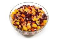3399Z 2,5 l Russischer Salat mit Rote Beete, Kartoffeln, Möhren und Zwiebeln oben