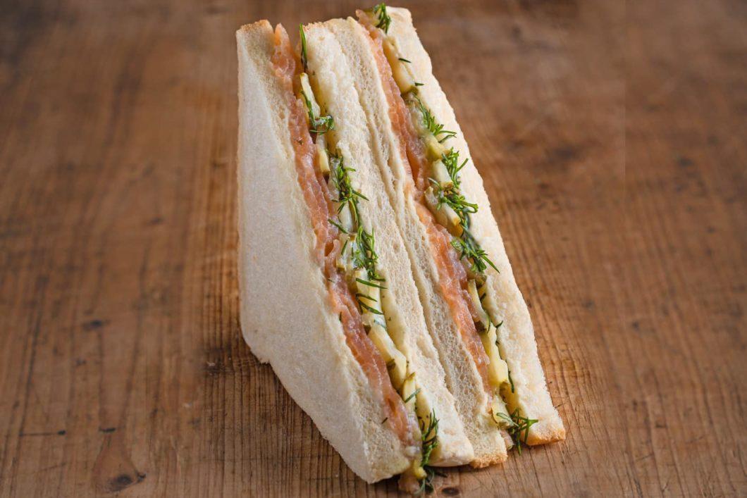 American Sandwich mit Räucherlachs