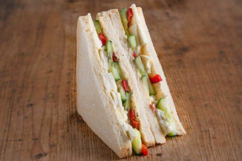 American Sandwich mit Schafkäse