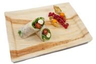 gefüllter Wrap mit Mini Mozzarella, Cherry Tomaten und Rucola
