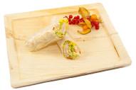 gefüllter Wrap mit Putenbrust, Frischkäse - Terrine, Salat und Paprika