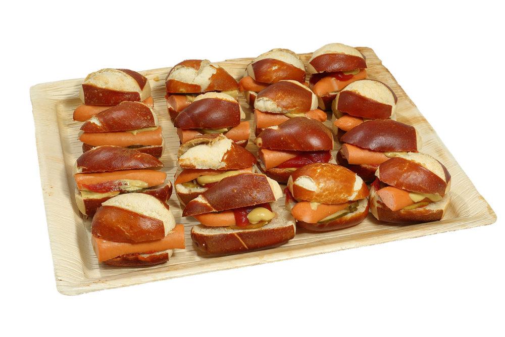 16er Mini Laugen Hot-Dog Platte