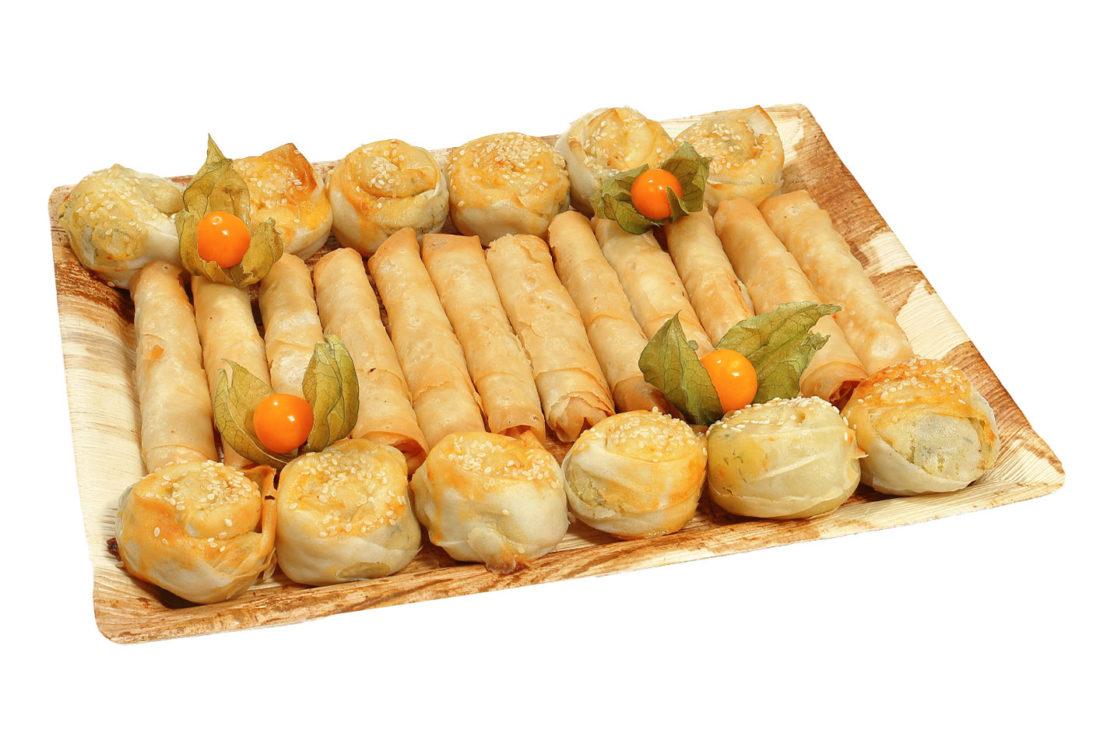 24er Kartoffel- und Käseröllchen Platte