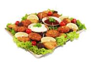 06055 24er Bouletten- und Schnitzel Mix Platte