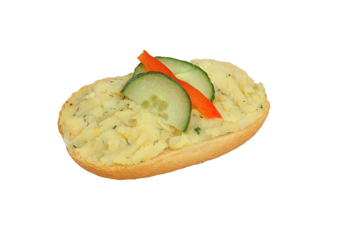 Brötchen mit hausgemachter Kartoffelcreme