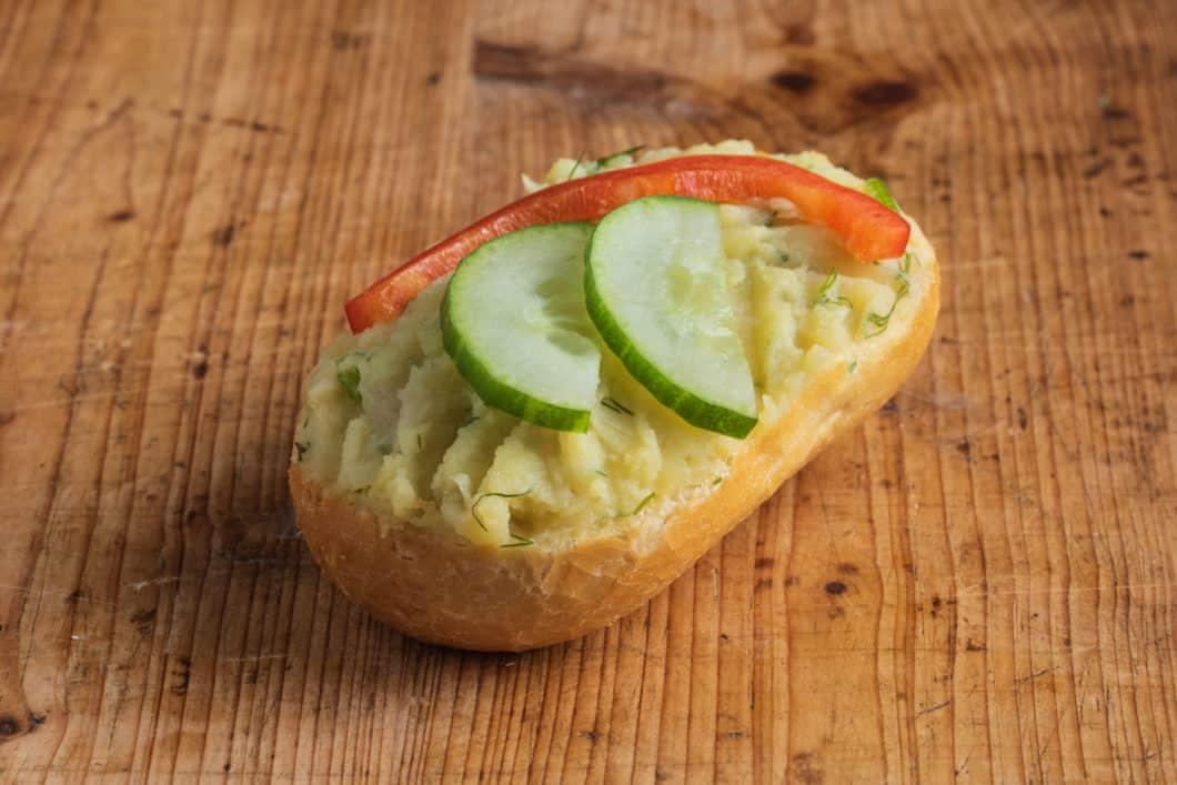 Brötchen mit hausgemachter Kartoffelcreme VEGAN