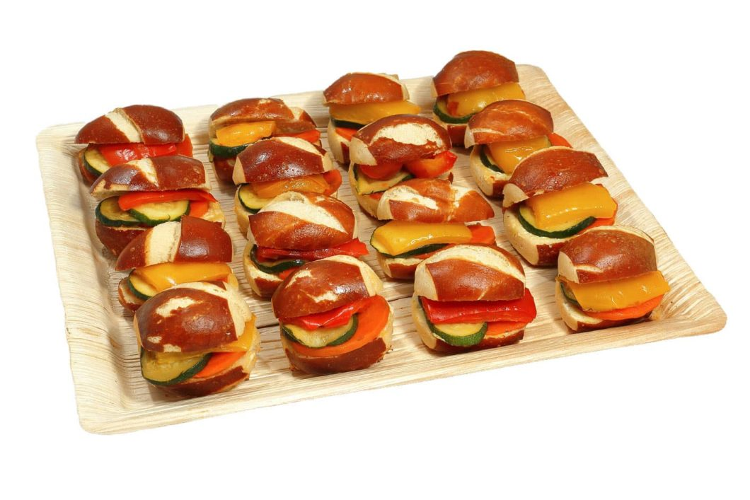 16er Mini Laugen Sandwich Platte VEGAN