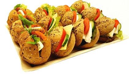 12er Kartoffel Brötchen Platte VEGETARISCH