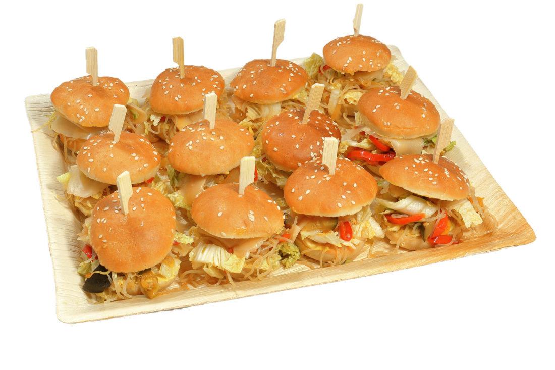 12er Mini Kimchi Burger Platte