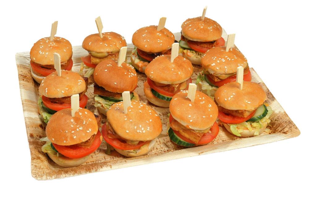 12er Mini Tofu Burger Platte