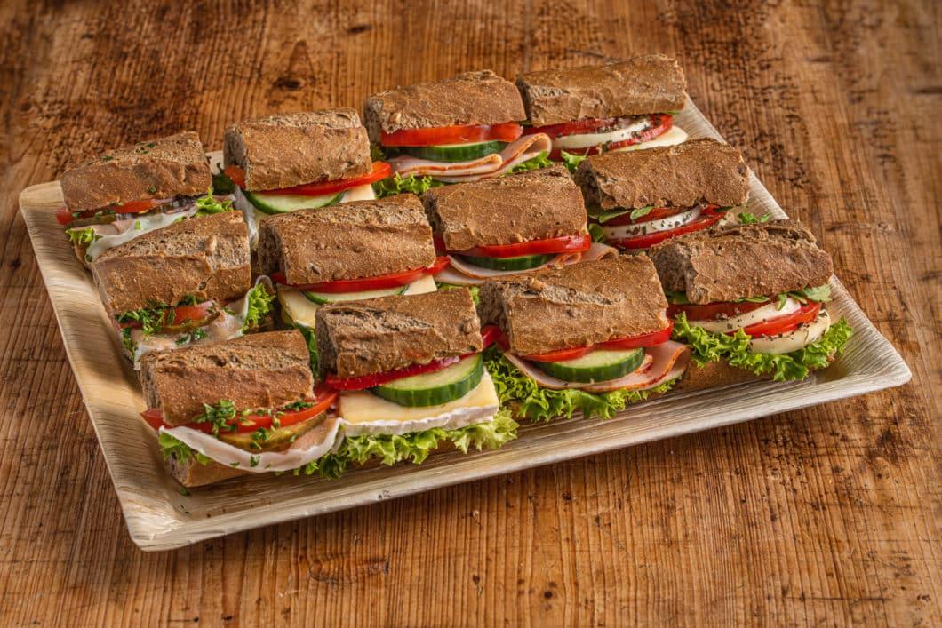 12er Mini Vollkorn-Baguette Sandwich Platte