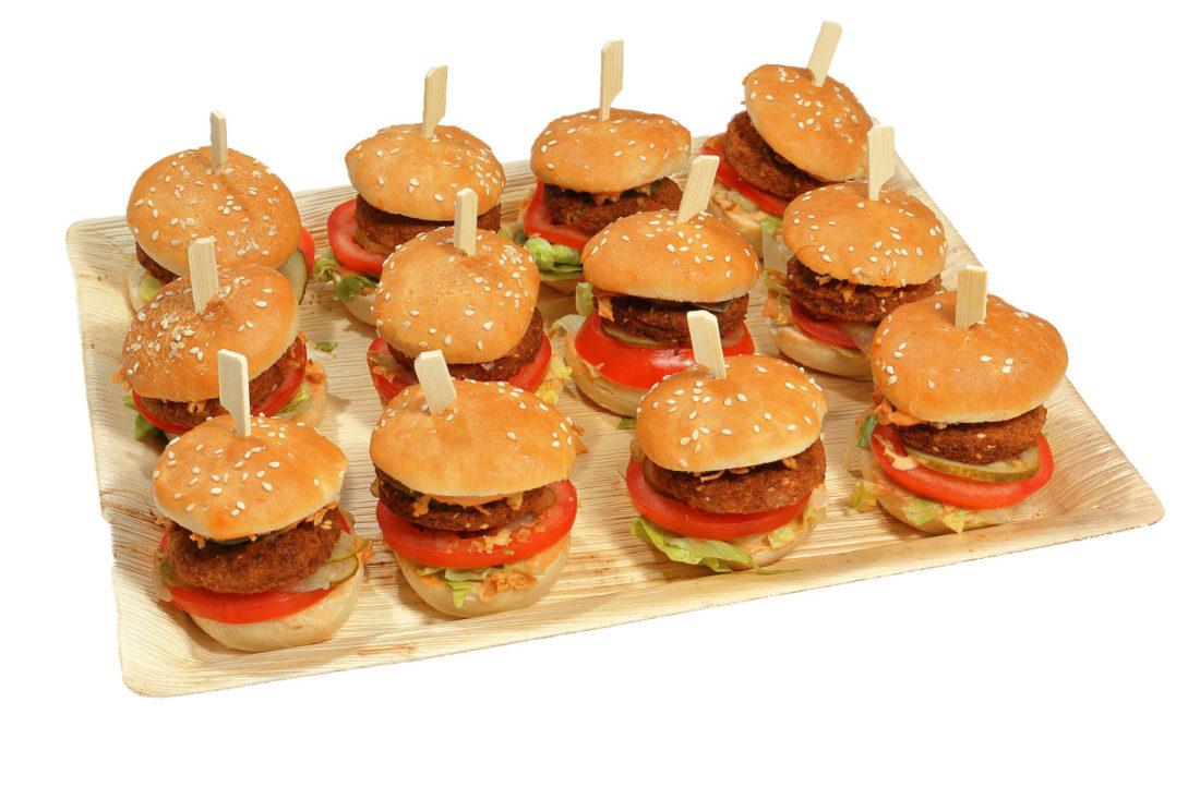 12er Mini Falafel Burger Platte