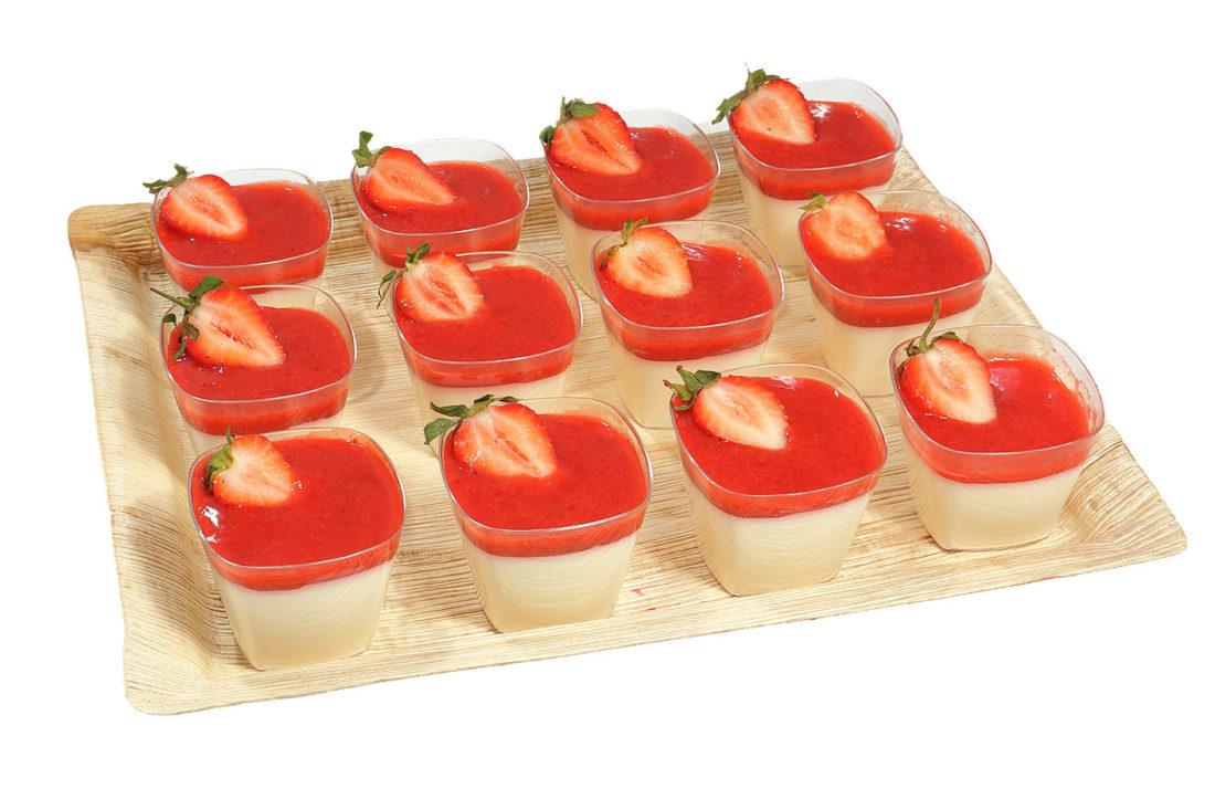 12er Erdbeer Panna Cotta