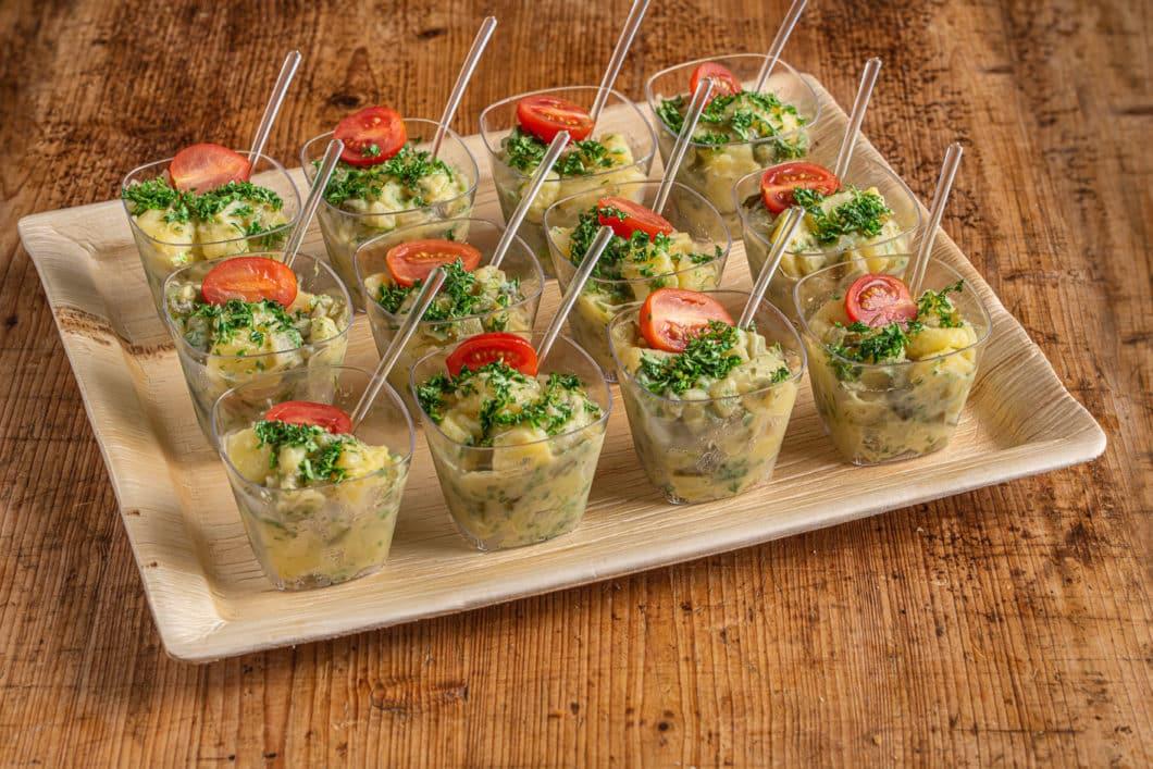 12er Kartoffel Salat Schälchen