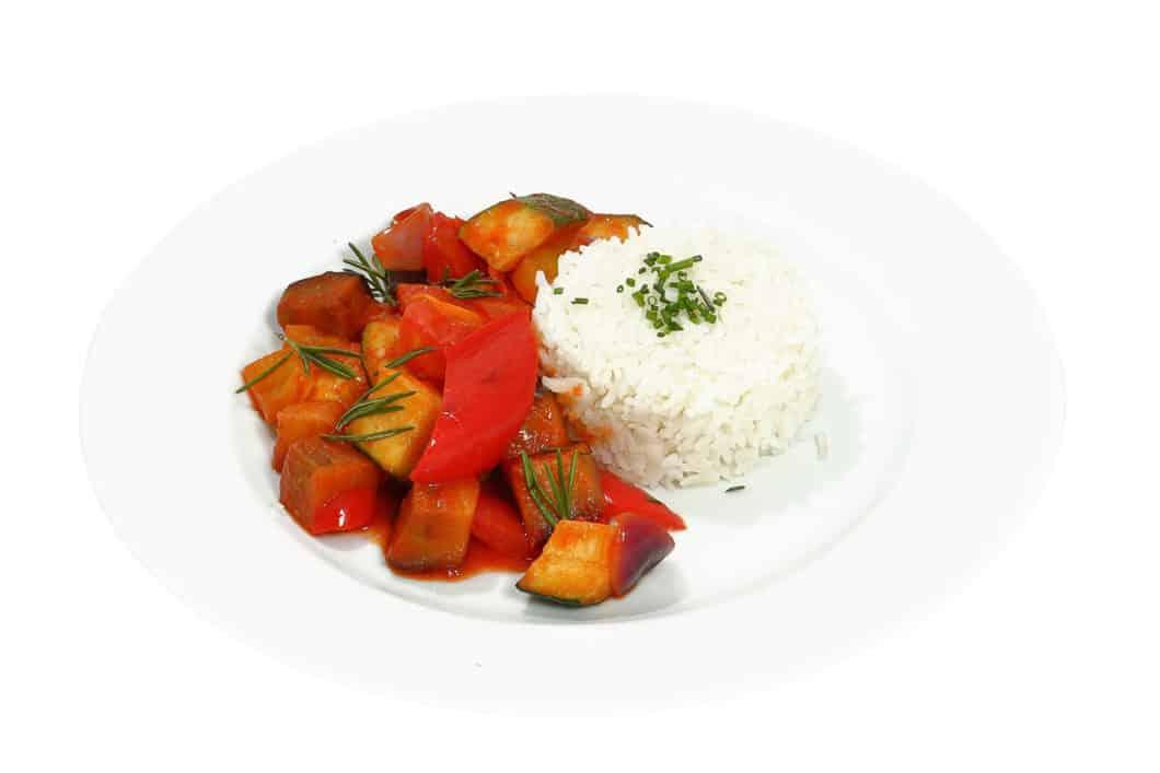 Ratatouille mit Reis