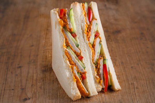 American Sandwich mit Hähnchen Curry