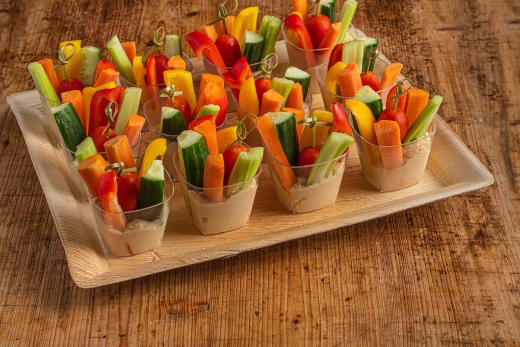12er Gemüse-Hummus Schälchen