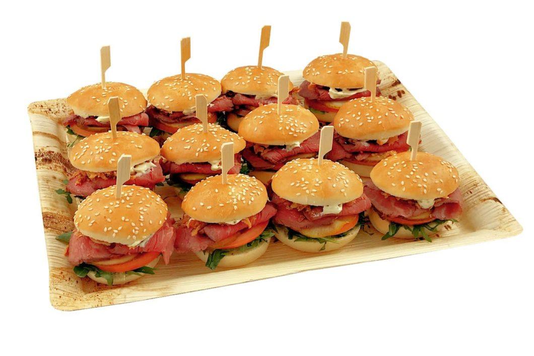 12er Mini Roastbeef Burger PLatte