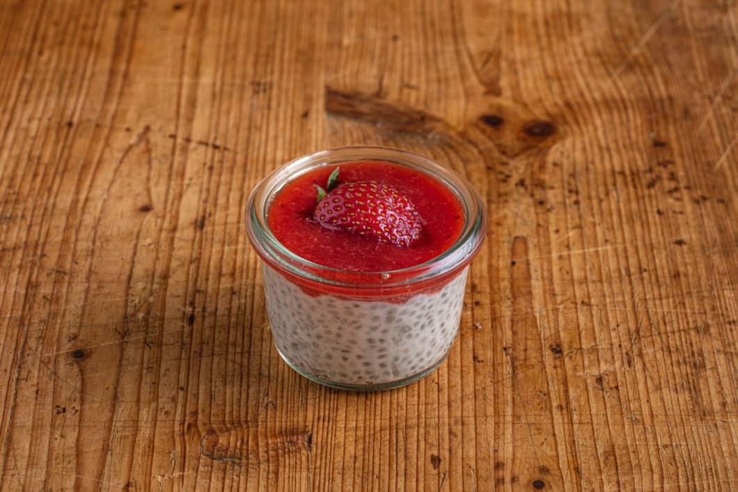 Chia Erdbeer Pudding