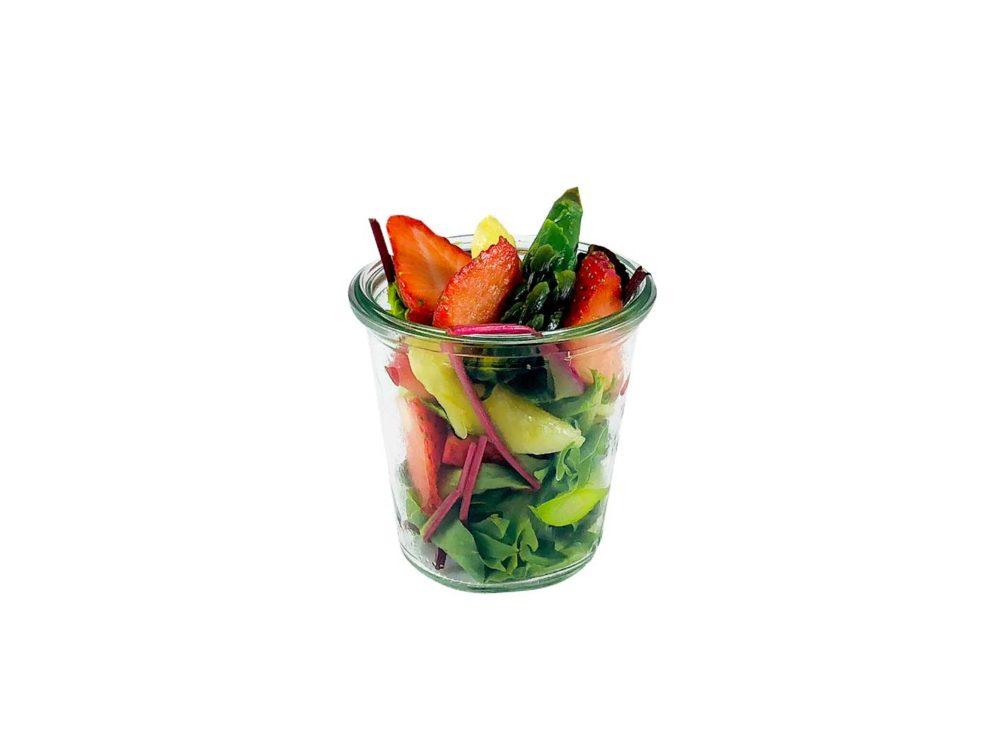 Erdbeer-Spargel Salat im Weckglas
