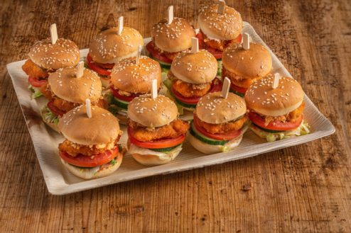 12er Mini Chicken-Jala Burger Platte