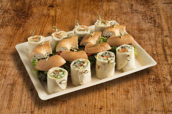 16er Mini Bagel & Wrap Platte VEGAN