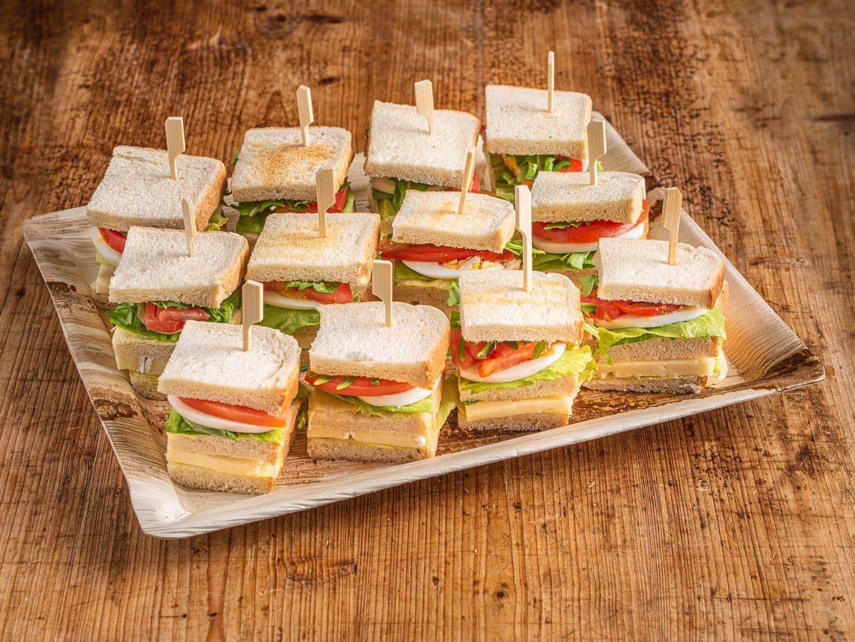 12er Mini Club Sandwich VEGGIE