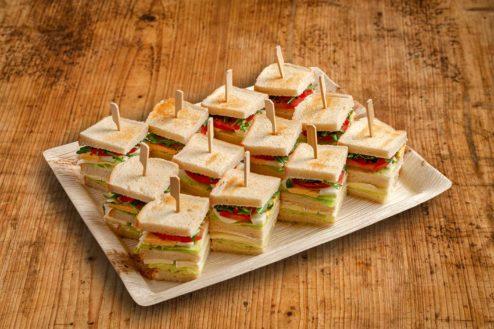 12er Mini_Club Sandwich_Platte VEGGIE