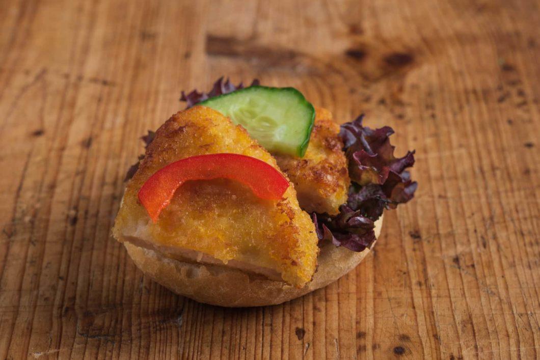 Mini Brötchen mit Schnitzel