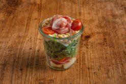 Melone-Serrano Salat im Weckglas