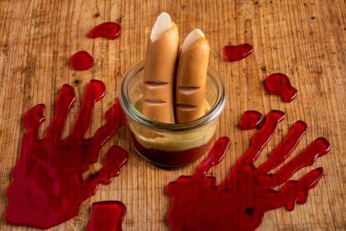 Finger im Weckglas