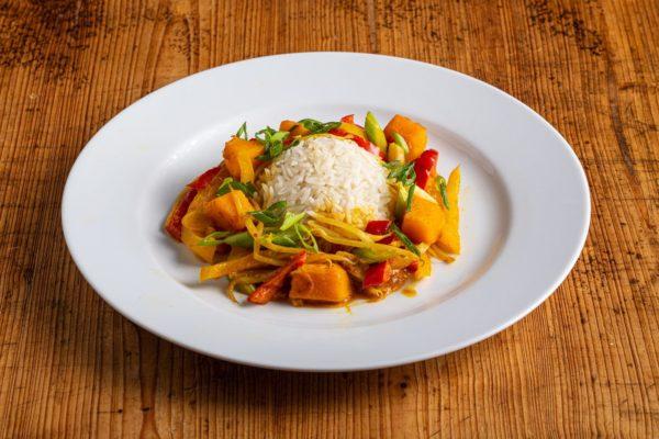 Kürbis-Curry mit Basmati