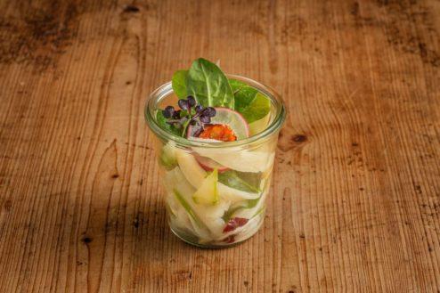 Spinat-Spargel Salat im Weckglas