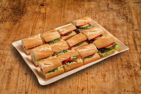 12er Mini Baguette Sandwich Platte VEGAN