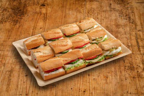 12er Mini Baguette Sandwich Platte VEGGIE