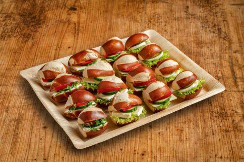 16er Mini Laugen Sandwich Platte VEGGIE