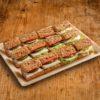 12er Mini Vollkorn Baguette Sandwich Platte VEGGIE