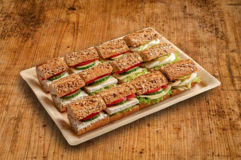 12er Mini Vollkorn-Baguette Sandwich Platte VEGGIE